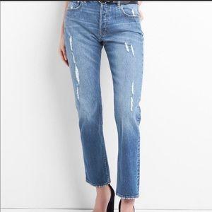 "GAP   Straight Leg ""Mom Jeans"" Cone Selvedge Denim"
